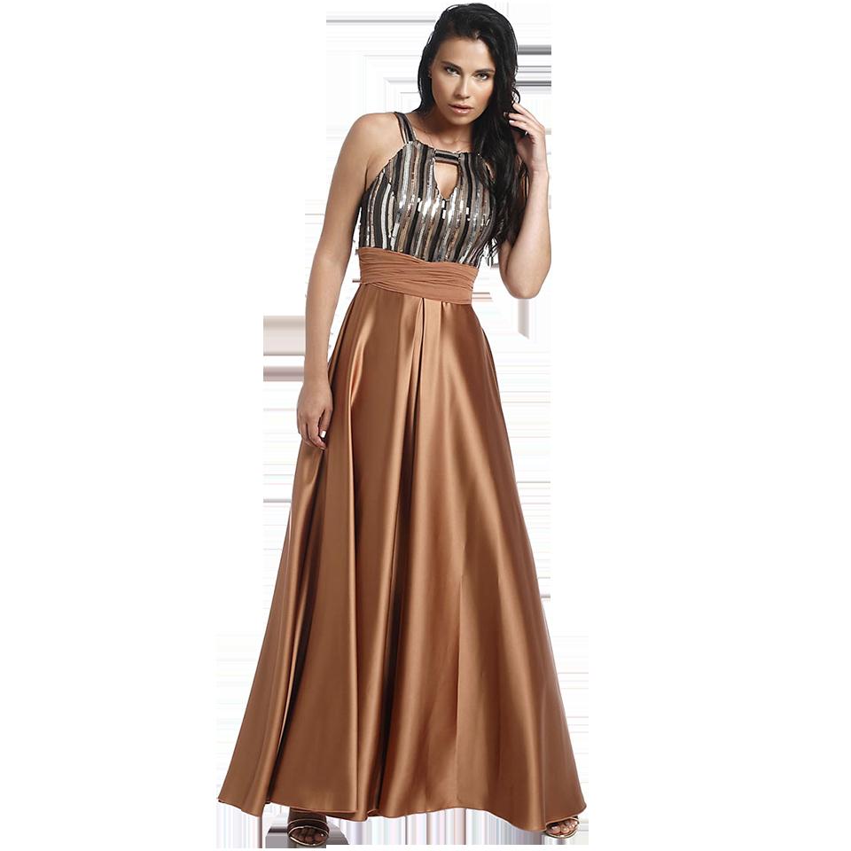 84dc27c6982e Maxi φόρεμα με παγιέτες και άνοιγμα στο μπούστο