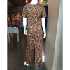 Full length leopard with short sleeves