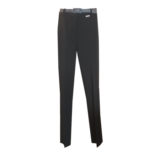 Cigarette trousers with padded belt