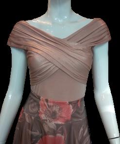 Έξωμη μπλούζα μεταλλιζέ μοντέρνα