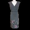 Κοντό ασπρόμαυρο φόρεμα με λουλούδια