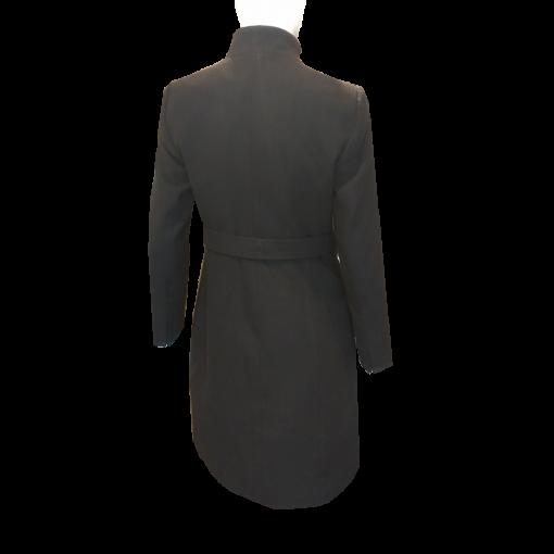 Παλτό με κουμπιά και δέσιμο στην μέση μαύρο