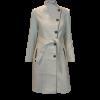 Παλτό με κουμπιά και δέσιμο στην μέση λευκό