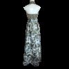 Maxi φόρεμα με μπούστο που δένει στο λαιμό