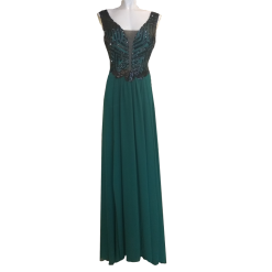 Maxi dress with black paillettes