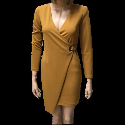 Κοντό φόρεμα κρουαζέ με κρίκο