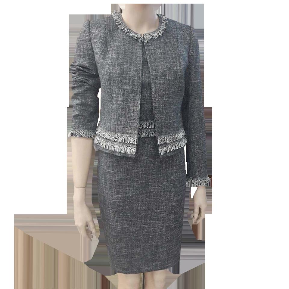 Κοντό φόρεμα τουιντ με κρόσσια  d88bbca2827