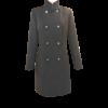 Παλτό σταυρωτό με κουμπιά μαύρο