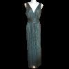 Maxi φόρεμα μεταλλιζέ μονόχρωμο με άνοιγμα
