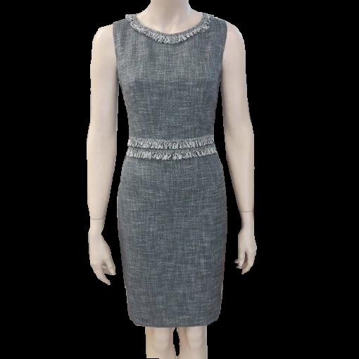 Κοντό φόρεμα τουιντ με κρόσσια