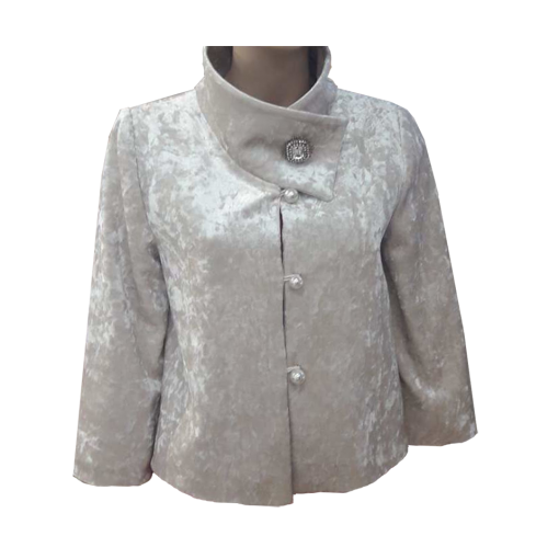 Short fur - bolero in color white