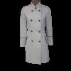 Παλτό σταυρωτό με κουμπιά λευκό