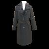 Παλτό με αφαιρούμενη γούνα και ζώνη μαύρο