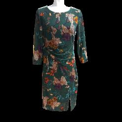Κοντό floral φόρεμα σε ίσια γραμμή πράσινο