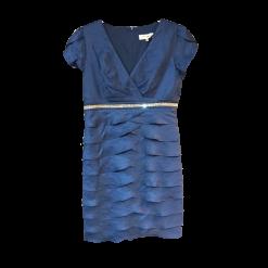 Κοντό φόρεμα κρουαζέ με φύλλα οβάλ