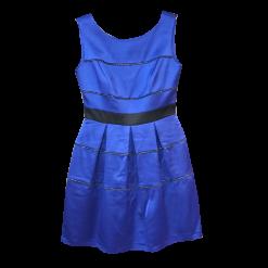 Κοντό φόρεμα με κουφόπιετες μπλε