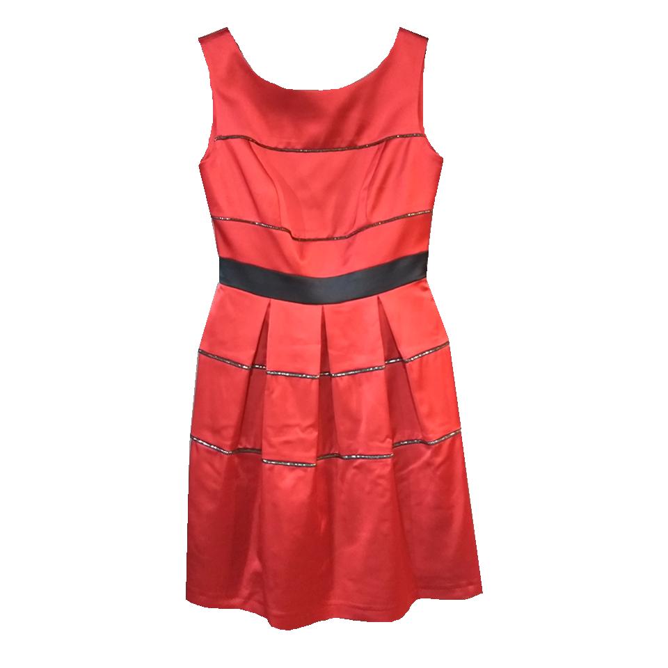 Κοντό φόρεμα με κουφόπιετες κόκκινο  014d5957078
