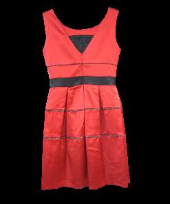 Κοντό φόρεμα με κουφόπιετες κόκκινο