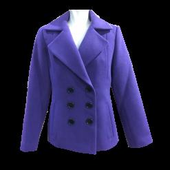Short female purple cross jacket