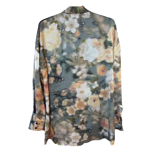 Floral πουκάμισο με δέσιμο ρόζ