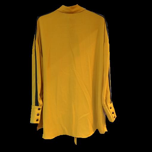 Δίχρωμο πουκάμισο με δέσιμο ώχρα
