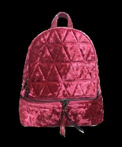 Backpack βελουτέ με ρυθμιζόμενα λουράκια