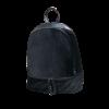 Μαύρο backpack με βελούδινες λεπτομέρειες