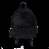 Μαύρο backpack βελουτέ με strass
