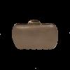 Χρυσό clutch bag σε σχήμα οβάλ
