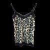 Μπλούζα animal print σε στιλ lingerie