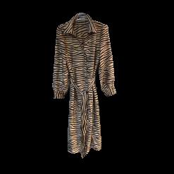 Σεμιζιέ midi φόρεμα - πουκαμίσα