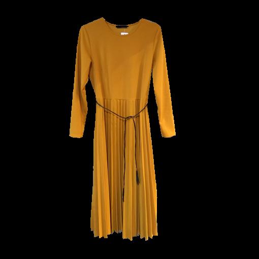 Midi φόρεμα με πλισέ φούστα