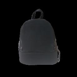 Γυναικείο backpack μαύρο με δύο φερμουάρ