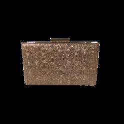 Χρυσό clutch bag με χρυσή αλυσίδα