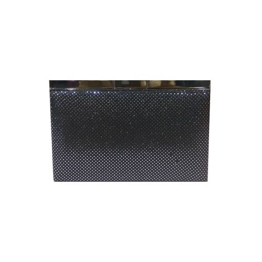 Silver clutch bag with silver chain