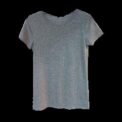 Στρασάτο μπλουζάκι με κοντά μανίκια