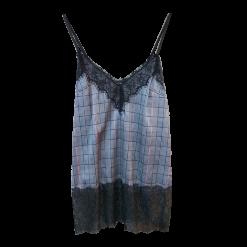 Γυναικεία μπλούζα καρώ σε στιλ lingerie