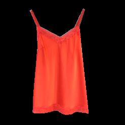Γυναικεία μονόχρωμη μπλούζα σε στιλ lingerie