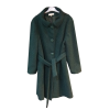 Γυναικείο μπουκλέ παλτό με ζώνη
