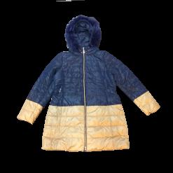 Δίχρωμο μπουφάν με οικολογική γούνα