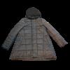 Κοντό μπουφάν με πλεκτή κουκούλα μπλέ