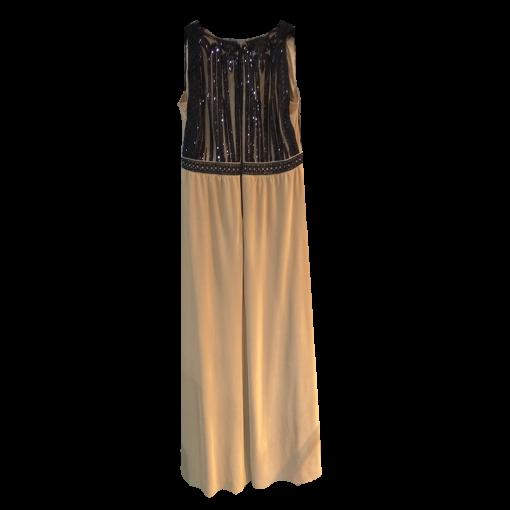 Αμάνικο maxi φόρεμα με παγιέτες