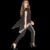 Γυναικείο παντελόνι με παγιέτα στο πλάι
