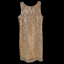 Κοντό φόρεμα με παγιέτες και άνοιγμα στην πλάτη