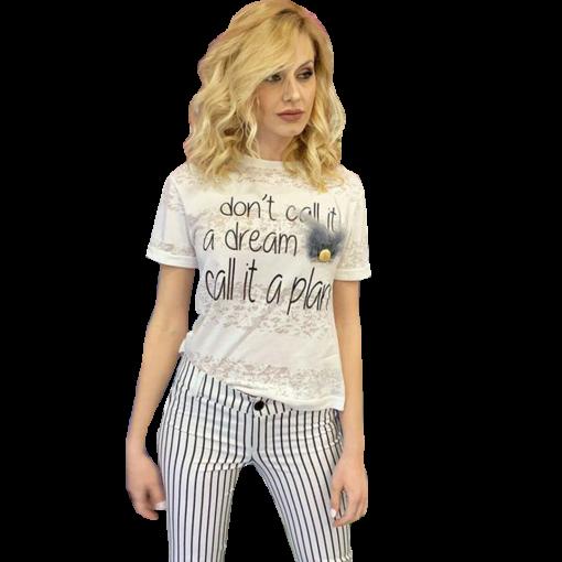 84eace13a6d6 Κοντομάνικη μπλούζα με τύπωμα