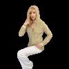 Γυναικεία πλεκτή ζακέτα με κουκούλα