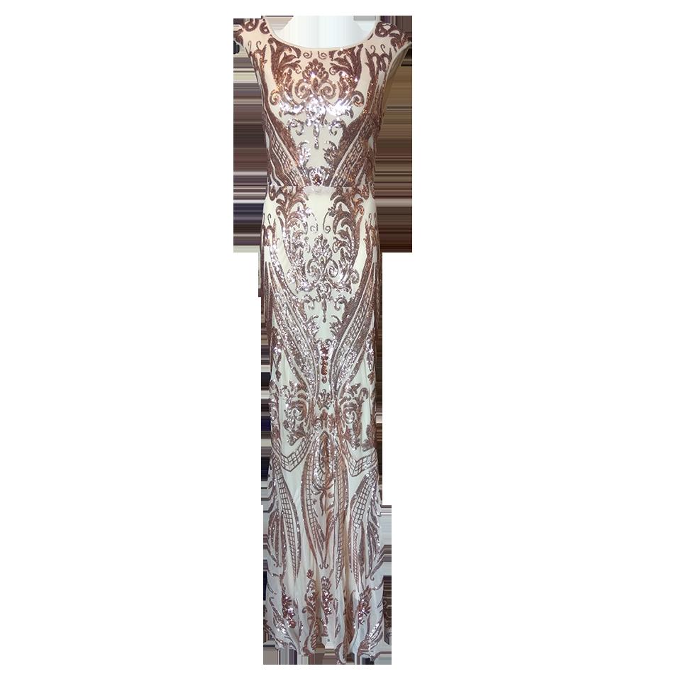 Maxi φόρεμα εφαρμοστό με εντυπωσιακή πλάτη