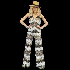 Ολόσωμη φόρμα ζικ-ζακ κρουαζέ