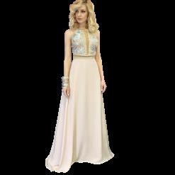Maxi φόρεμα με τιράντες από δαντέλα ροζ