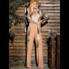 Ψηλόμεση μονόχρωμη παντελόνα με ζώνη